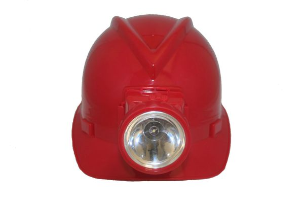MINER'S RED TOY HARD HAT WITH LIGHT FOR ADULTS & KIDS .. HIGH QUALITY .. NEW