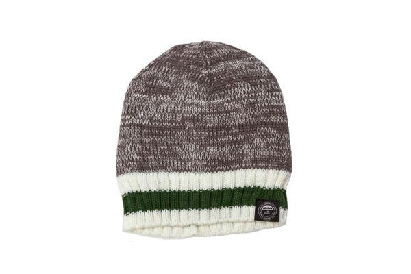 PRINCE EDWARD ISLAND - CANADA Province GRAY With Green - White Stripes BEANIE TOQUE HAT .. ( PEI-TQ6 scaled )