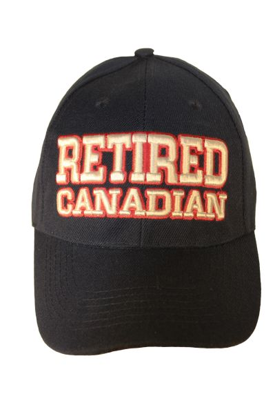 RETIRED CANADIAN Embossed HAT CAP..Colors : Navy , Pink
