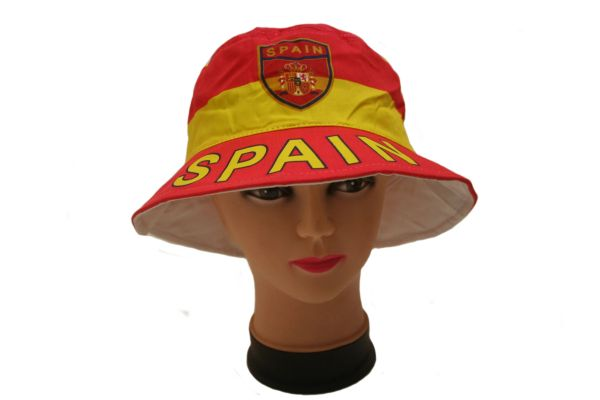 SPAIN COUNTRY FLAG BUCKET HAT CAP .. NEW