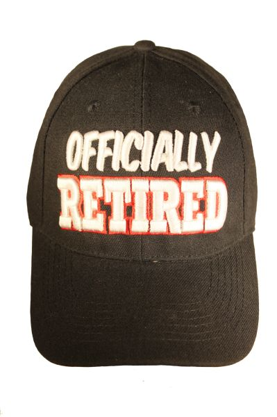 OFFICIALLY RETIRED Embossed HAT CAP..Colors : Black , Red , Pink