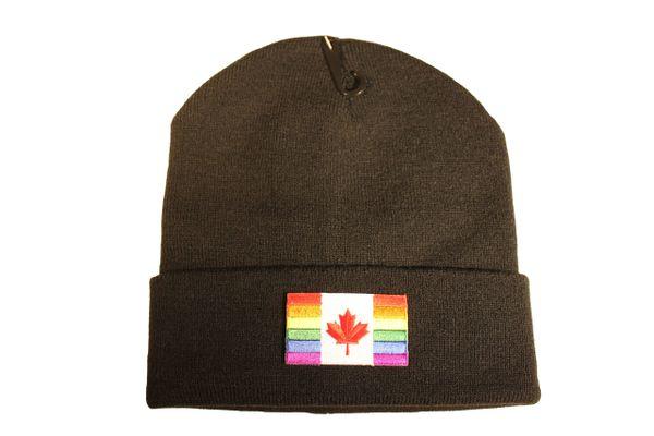 CANADA LGBTQ Gay & Lesbian..Flag PATCH TOQUE HAT .. Different Colors
