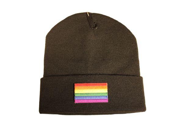 PRIDE LGBTQ Gay & Lesbian..Flag PATCH TOQUE HAT .. Different Colors