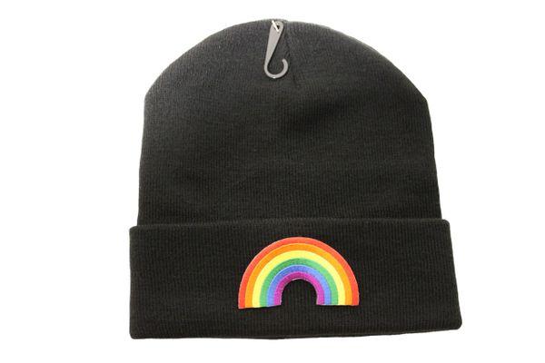 RAINBOW Shape LGBTQ Gay & Lesbian Flag PATCH TOQUE HAT