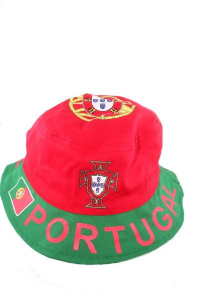 PORTUGAL FPF LOGO FIFA SOCCER WORLD CUP KIDS BUCKET HAT CAP SIZE 54 OR 6 3/4 .. NEW