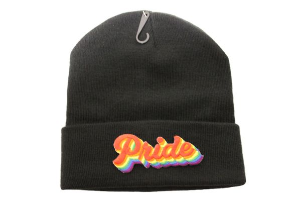 PRIDE Word LGBTQ Gay & Lesbian Flag PATCH TOQUE HAT Different Colors