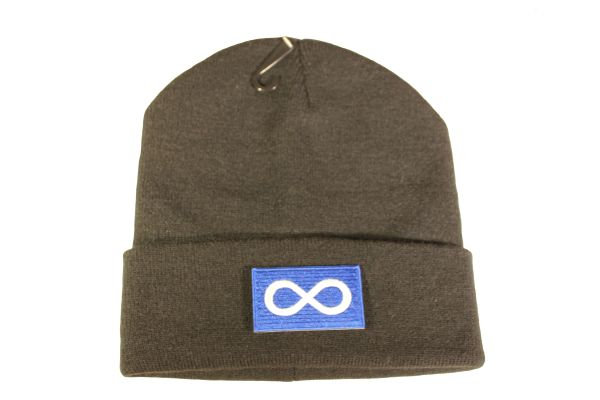 METIS First Nations BLUE Flag Iron - On PATCH TOQUE HAT