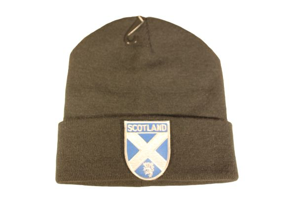 SCOTLAND St. ANDREW CROSS Flag Logo With LION Iron - On PATCH TOQUE HAT