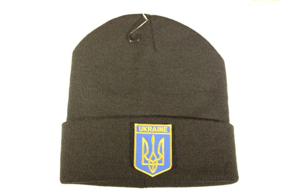UKRAINE With TRIDENT Iron - On PATCH TOQUE HAT