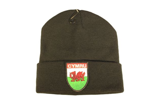 CYMRU WALES Country Flag Logo Iron - On PATCH TOQUE HAT