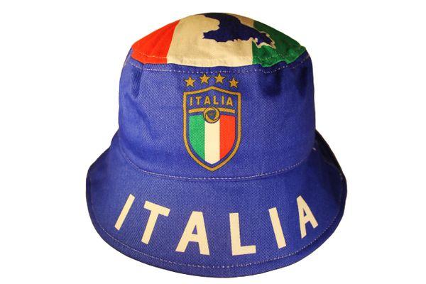 ITALIA ITALY Country Flag FIGC Logo 4 Stars ADULTS BUCKET HAT CAP .. NEW