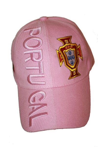 PORTUGAL PINK , FPF LOGO FIFA SOCCER WORLD CUP EMBOSSED HAT CAP .. FOR LADIES .. NEW