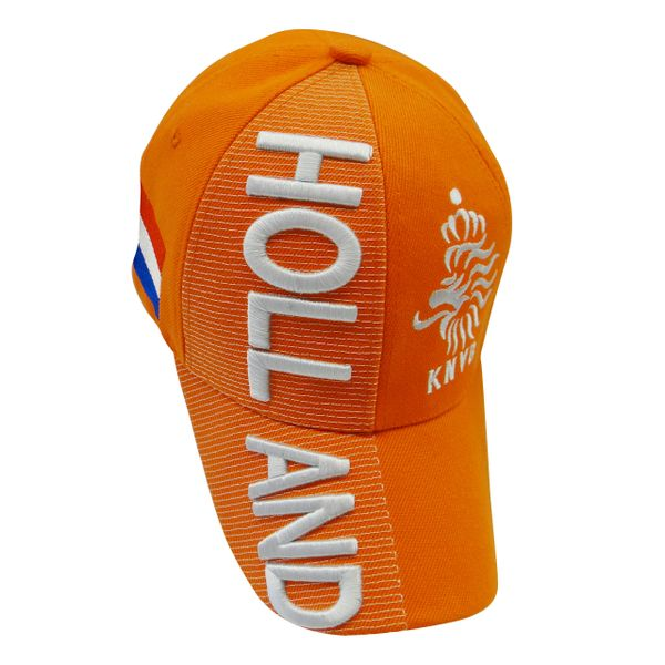 HOLLAND Orange Country Flag , KNVB LOGO FIFA WORLD CUP EMBROIDERED HAT CAP .. NEW