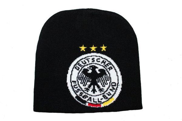 GERMANY BLACK , 3 STARS , DEUTSCHER FUSSBALL-BUND LOGO FIFA SOCCER WORLD CUP TOQUE HAT .. NEW