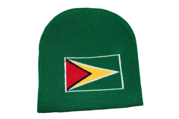 GUYANA COUNTRY FLAG TOQUE HAT .. NEW