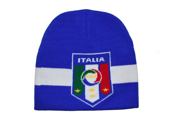 ITALIA ITALY BLUE FIGC LOGO FIFA SOCCER WORLD CUP TOQUE HAT .. NEW