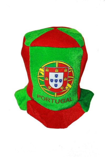 PORTUGAL COUNTRY FLAG CLOWN STYLE HAT FOR ADULTS & KIDS .. HIGH QUALITY .. NEW