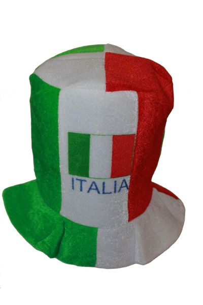 ITALIA ITALY COUNTRY FLAG CLOWN STYLE HAT .. FOR ADULTS & KIDS .. HIGH QUALITY .. NEW