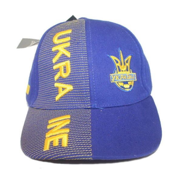 UKRAINE BLUE WITH TRIDENT EMBOSSED HAT CAP. FOR KIDS AGES : 6 - 10 YEARS OLD .. HIGH QUALITY .. NEW