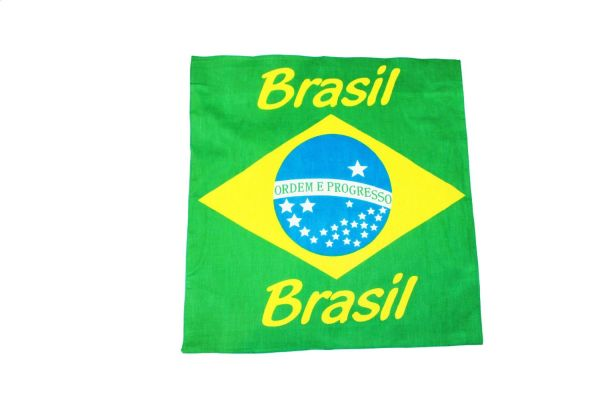 "BRASIL BRAZIL COUNTRY FLAG 21"" X 21"" INCHES BANDANA .. HIGH QUALITY .. NEW"