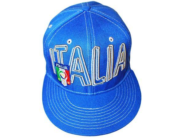 ITALIA ITALY BLUE SNAPBACK FIGC LOGO FIFA SOCCER WORLD CUP HIP HOP HAT CAP .. NEW
