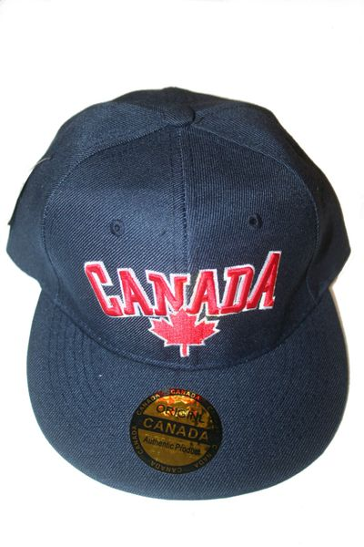 CANADA BLUE WITH MAPLE LEAF HIP HOP HAT CAP .. NEW