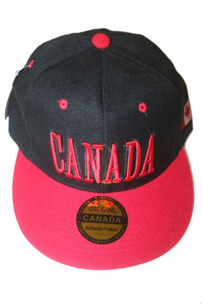 CANADA BLACK RED COUNTRY FLAG HIP HOP HAT CAP .. NEW