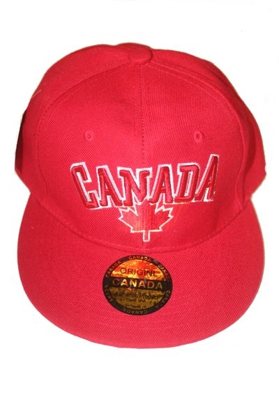 CANADA RED WITH MAPLE LEAF HIP HOP HAT CAP .. NEW