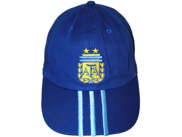 ARGENTINA DARK BLUE WITH BLUE STRIPES AFA LOGO FIFA SOCCER WORLD CUP EMBOSSED HAT CAP .. NEW