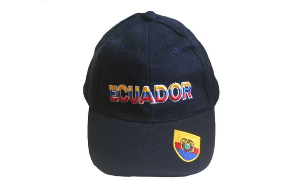 ECUADOR BLUE COUNTRY FLAG OM BRIM EMBOSSED HAT CAP .. NEW