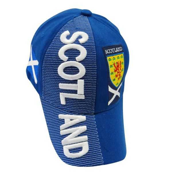 SCOTLAND BLUE COUNTRY FLAG , EMBOSSED HAT CAP .. NEW