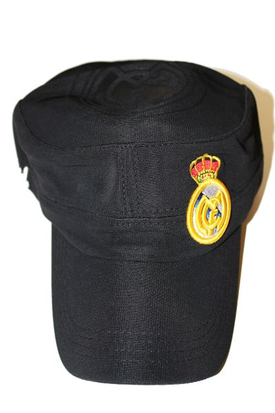 REAL MADRID BLACK WITH LOGO FIFA SOCCER WORLD CUP EMBOSSED HAT CAP .. NEW