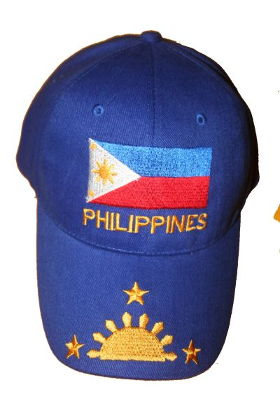 PHILIPPINES BLUE COUNTRY FLAG EMBROIDERED HAT CAP .. NEW