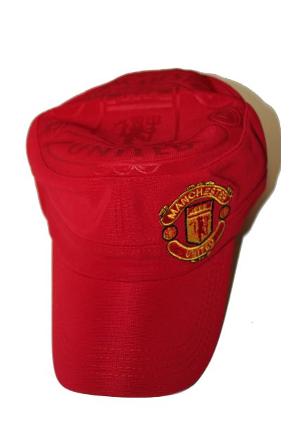 MANCHESTER UNITED RED FIFA SOCCER WORLD CUP MILITARY STYLE HAT CAP .. NEW
