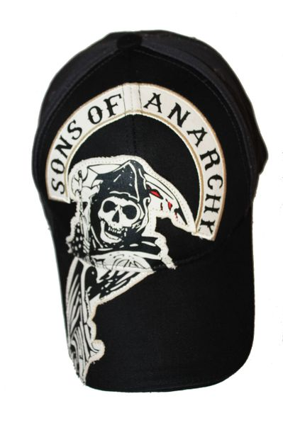 SONS OF ANARCHY BLACK EMBOSSED HAT HAT CAP .. NEW
