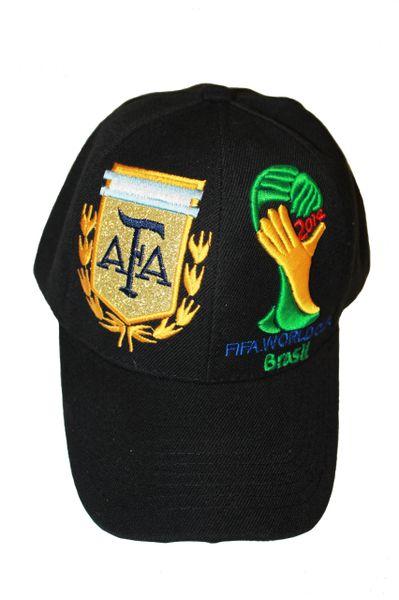 ARGENTINA BLACK AFA LOGO FIFA SOCCER WORLD CUP EMBOSSED HAT CAP .. NEW
