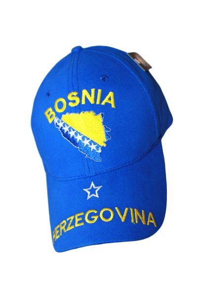 BOSNIA & HERZEGOVINA BLUE EMBROIDERED HAT CAP .. NEW
