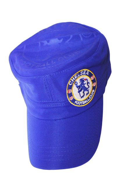 CHELSEA BLUE WITH LOGO SOCCER MILITARY STYLE HAT CAP .. NEW