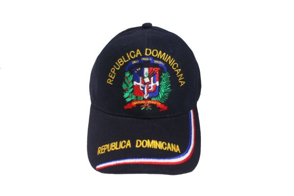 DOMINICAN REPUBLIC BLUE COUNTRY FLAG EMBOSSED HAT CAP .. NEW