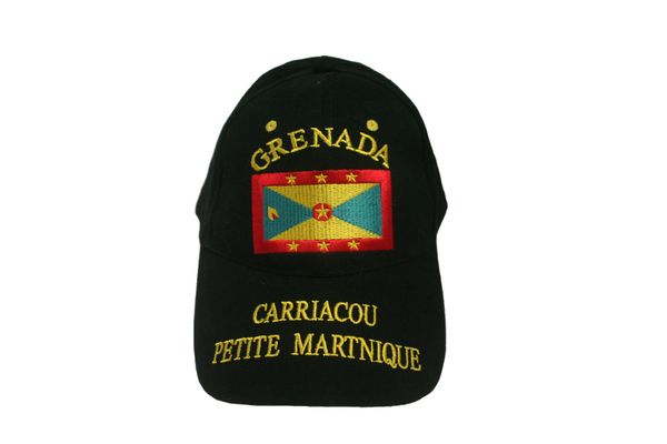 GRENADA BLACK COUNTRY FLAG EMBOSSED HAT CAP .. NEW