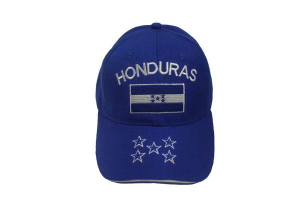 HONDURAS BLUE COUNTRY FLAG EMBOSSED HAT CAP .. NEW