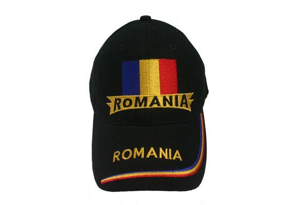 ROMANIA BLACK COUNTRY FLAG EMBOSSED HAT CAP .. NEW