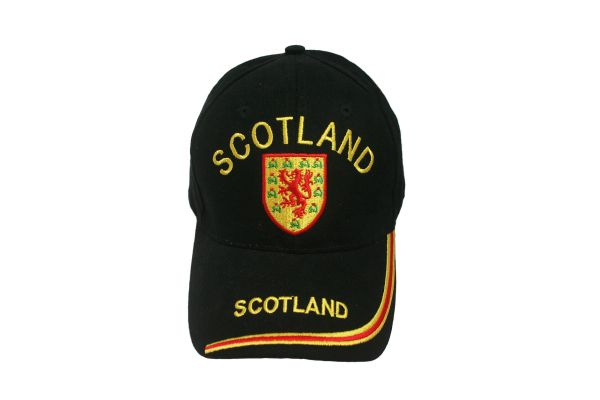 SCOTLAND BLACK COUNTRY FLAG WITH LION EMBROIDERED HAT CAP .. NEW