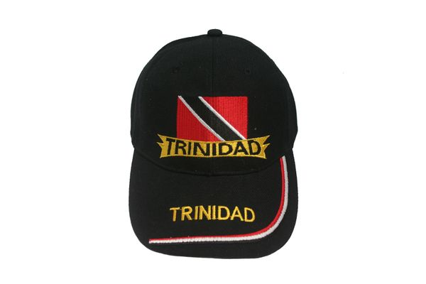 TRINIDAD BLACK COUNTRY FLAG EMBROIDERED HAT CAP .. NEW