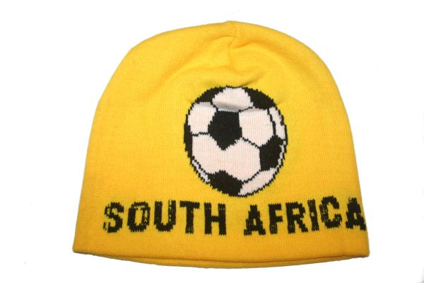 SOUTH AFRICA YELLOW FIFA SOCCER WORLD CUP TOQUE HAT .. NEW