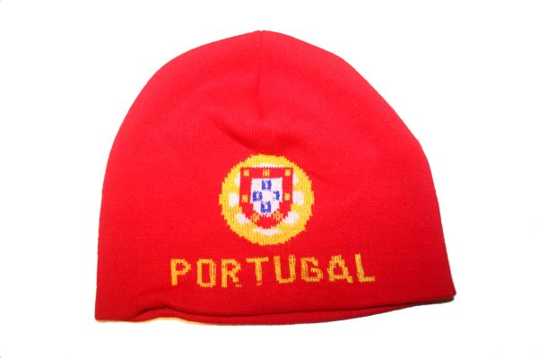 PORTUGAL RED COUNTRY FLAG TOQUE HAT .. NEW
