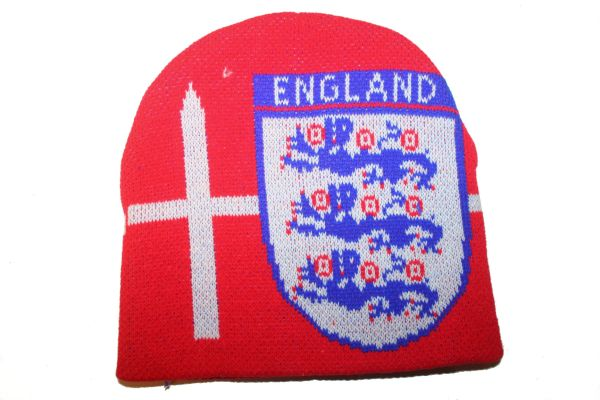 ENGLAND RED COUNTRY FLAG BLUE TOQUE HAT .. NEW