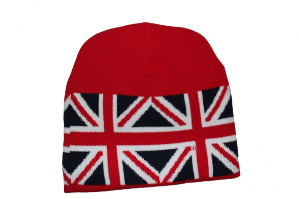 UNITED KINGDOM RED COUNTRY FLAG TOQUE HAT .. NEW
