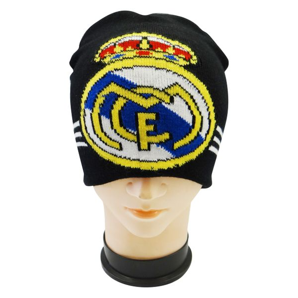 REAL MADRID BLACK FIFA SOCCER WORLD CUP TOQUE HAT .. NEW