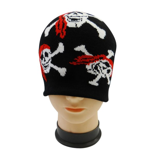 PIRATE : SCULP WITH CROSS BONES TOQUE HAT .. NEW